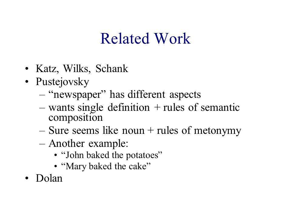 Processing Metonymy and Metaphor Dan Fass, as summarized/(mis ...