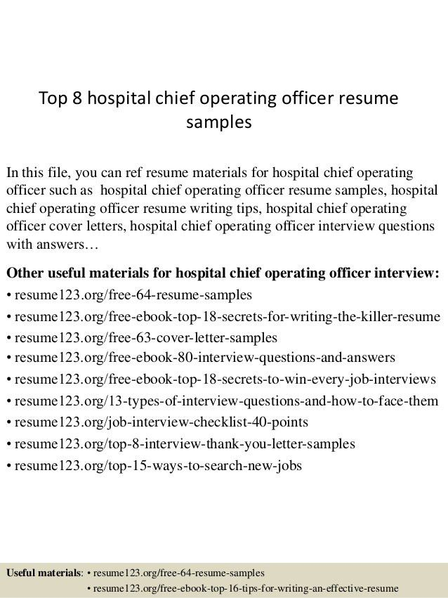 top-8-hospital-chief-operating-officer-resume -samples-1-638.jpg?cb=1434438769