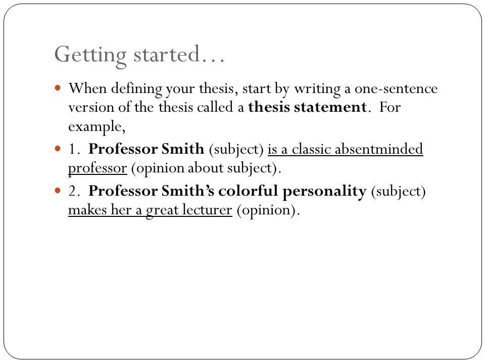 The Thesis Statement: A Roadmap for Your Essay - ppt video online ...