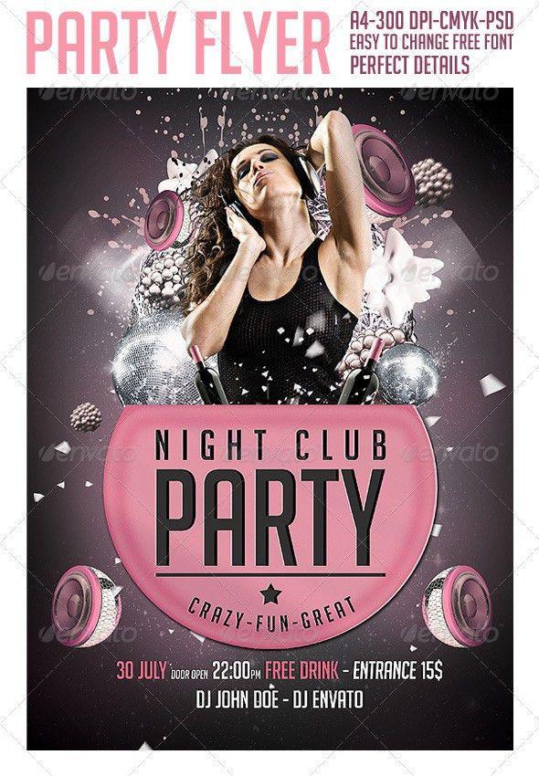 Club Party Flyer Template ‹ PsdBucket.com