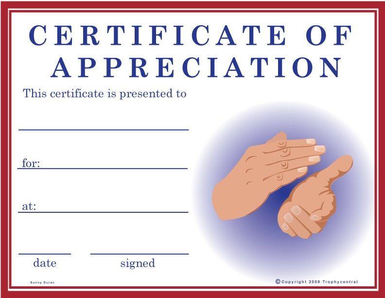 Free Award Certificates - Free Award Certificate Template