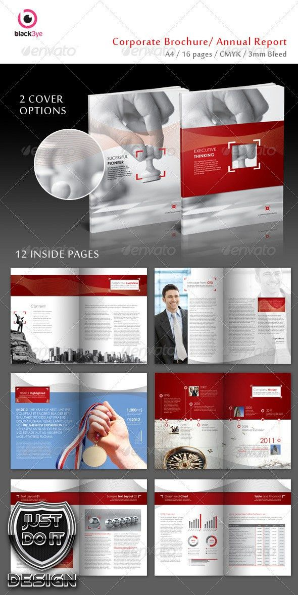 A template with corporate minimal layout style, fully editable and ...