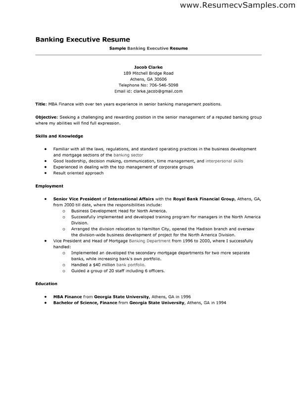 resume for bankers banking resume samples visualcv resume samples