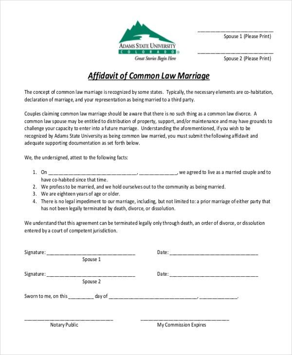 Affidavit Form Sample - 10+ Free Documents in PDF
