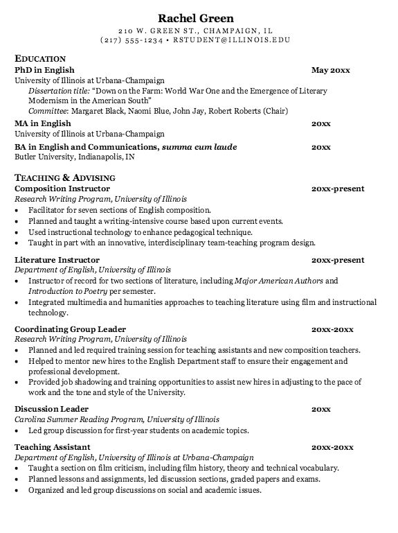 Example Of Literature Instructor Resume - http://exampleresumecv ...