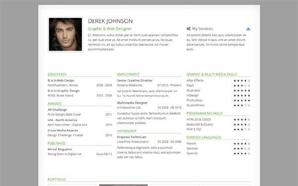 Freelancer - Resume & Portfolio | Bootstrap Portfolio and Resume ...