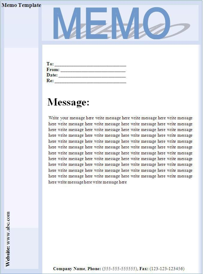 memo templates examples