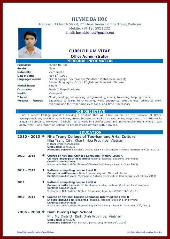 12 Graduate Student CV Format | sendletters.info
