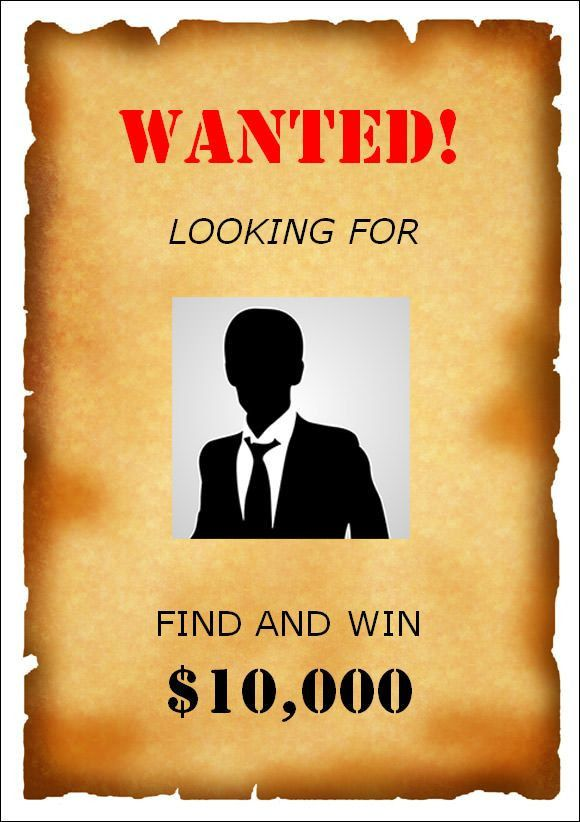 10 Best Images of Wanted Poster Template Downloadable - White ...