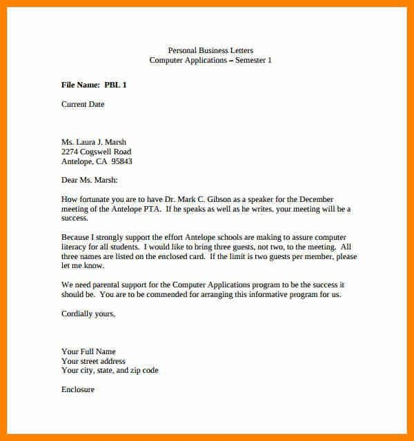 10+ personal letter for example | buyer resume