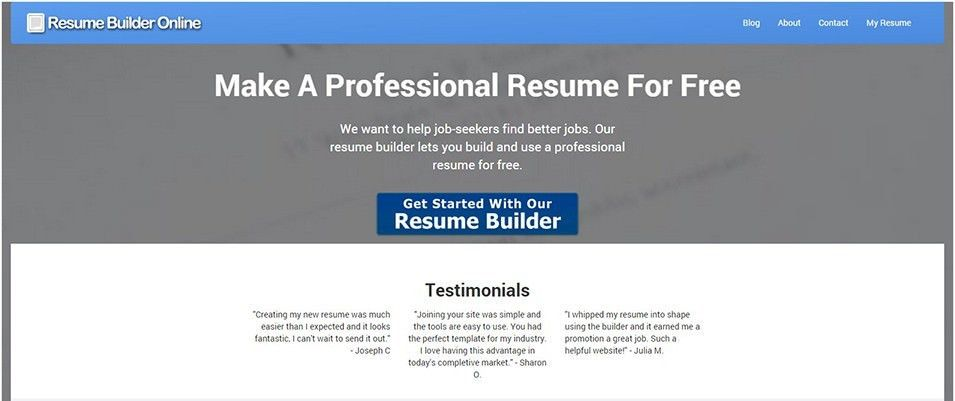 22+ Top Best Resume Builders 2016 | Free & Premium Templates