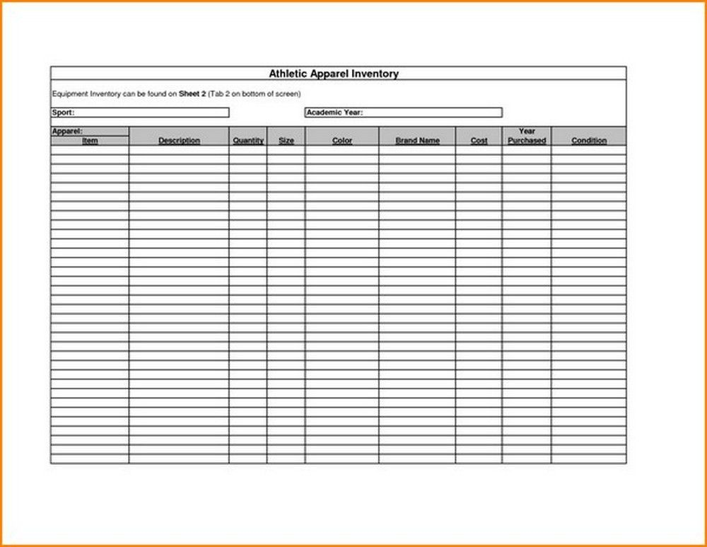 bar inventory sheet template free | Spreadsheets