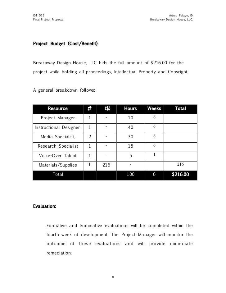 Cost Proposal Template. Lms Rfp Template / Sample Updated: Logo ...