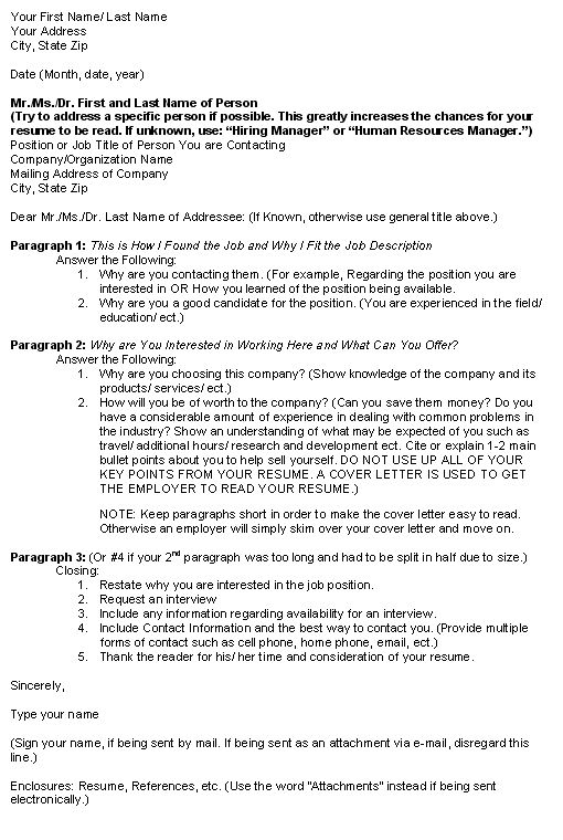 general cover letter template for general cover letter format ...