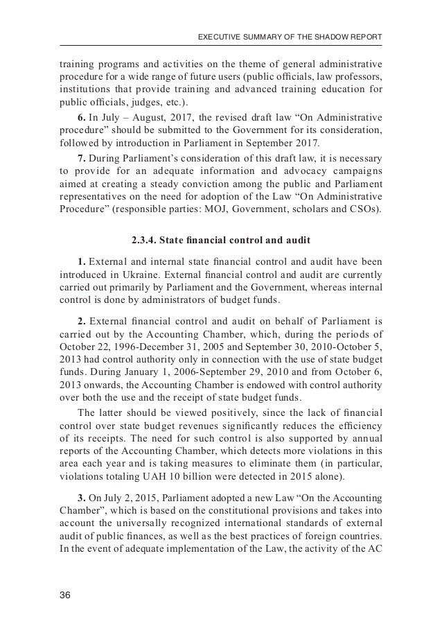 Executive Summary of the Shadow report on evaluating the effectivenes…