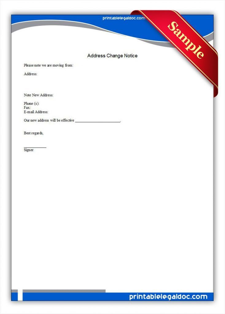 Sample Change Of Address Form Employee Certificate Kids Printable ...