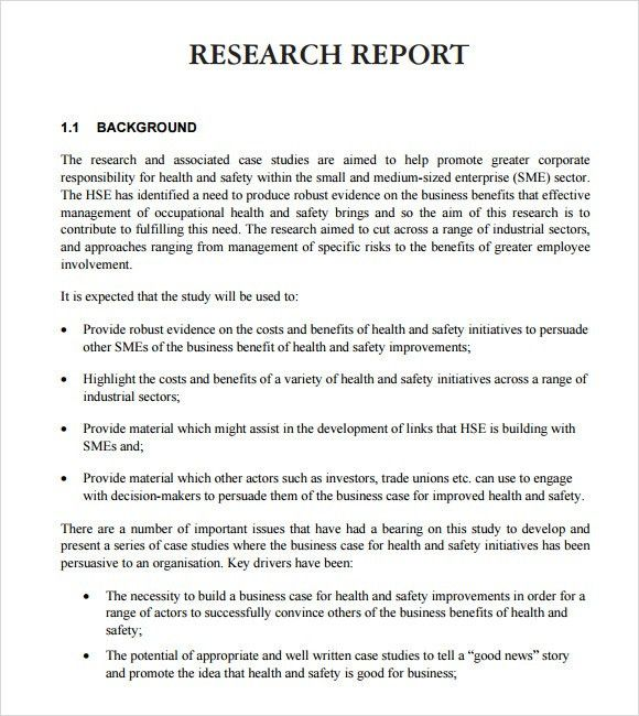 Sample Research Report – 6+ Sample, Example, Format