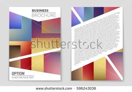 Abstract Vector Layout Background Set Art Stock Vector 718506385 ...