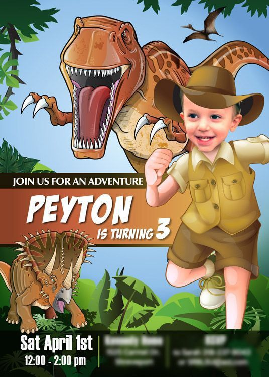 11 best Dinosaurs Birthday Invitations images on Pinterest ...