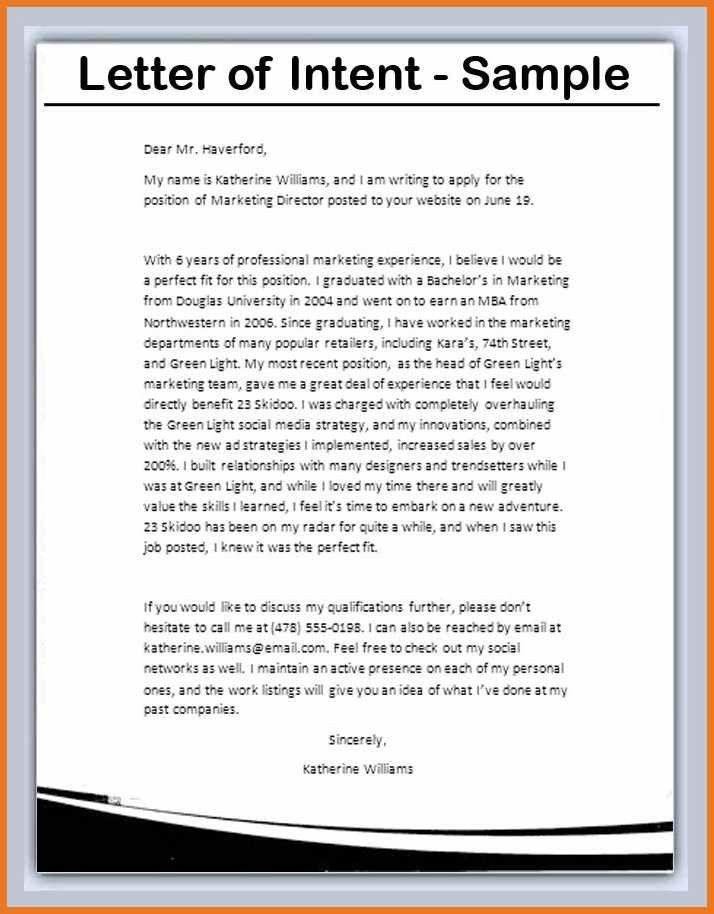 letter of intent template | art resume skills