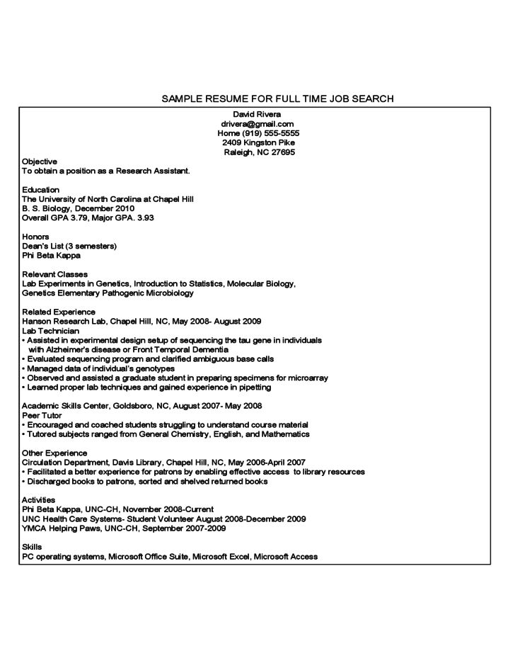 Sample Resume For First Year College Student] First Year College ...