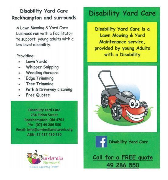 Disability Yard Care | The Umbrella Network
