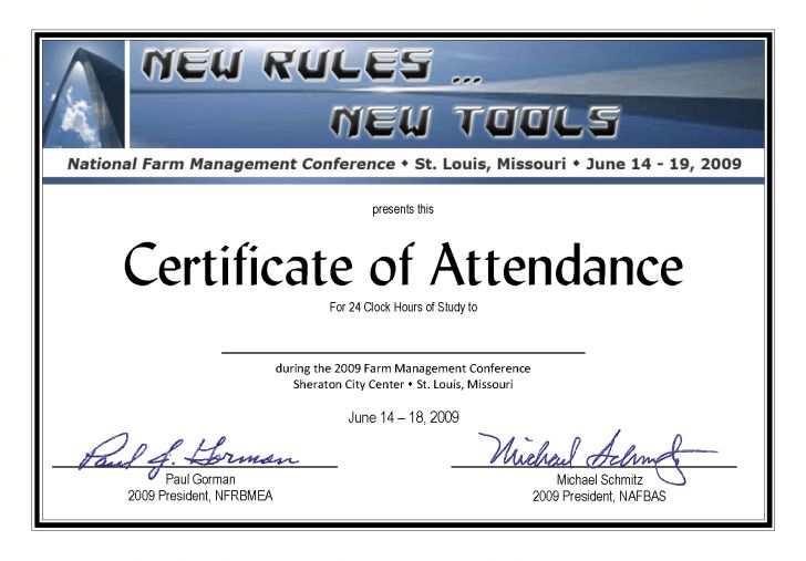 seminar certificate of attendance template | Best and Various ...