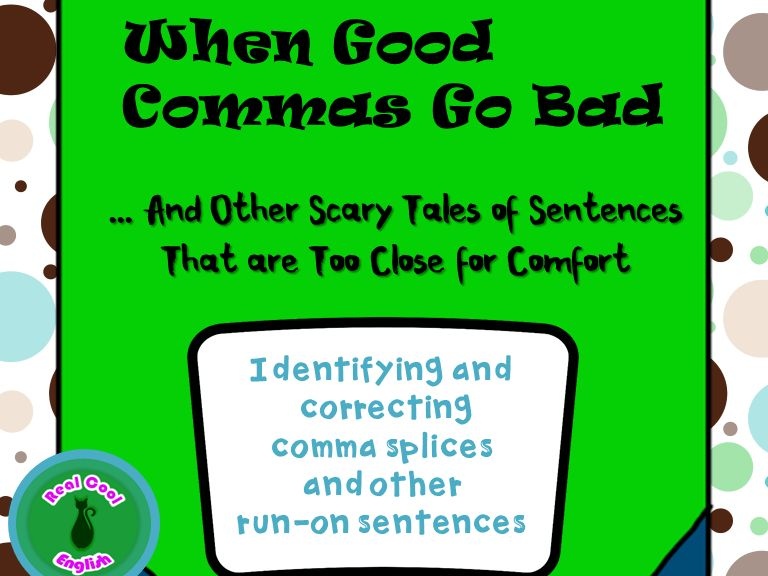Comma Splice and Run-on Sentence PowerPoint and Activities by ...