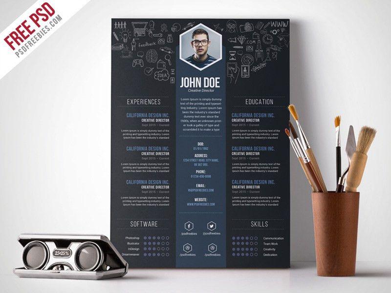 Free Creative Designer Resume Template PSD | PSDFreebies.com