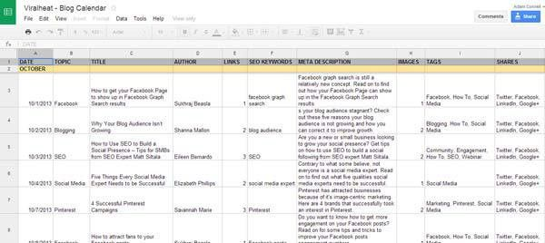 10 Must Haves For Your Editorial Calendar [+FREE TEMPLATE] | UK ...