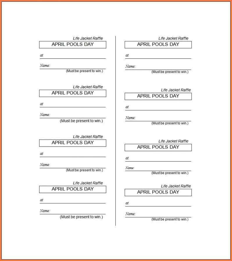 Raffle Sheet Template - Contegri.com
