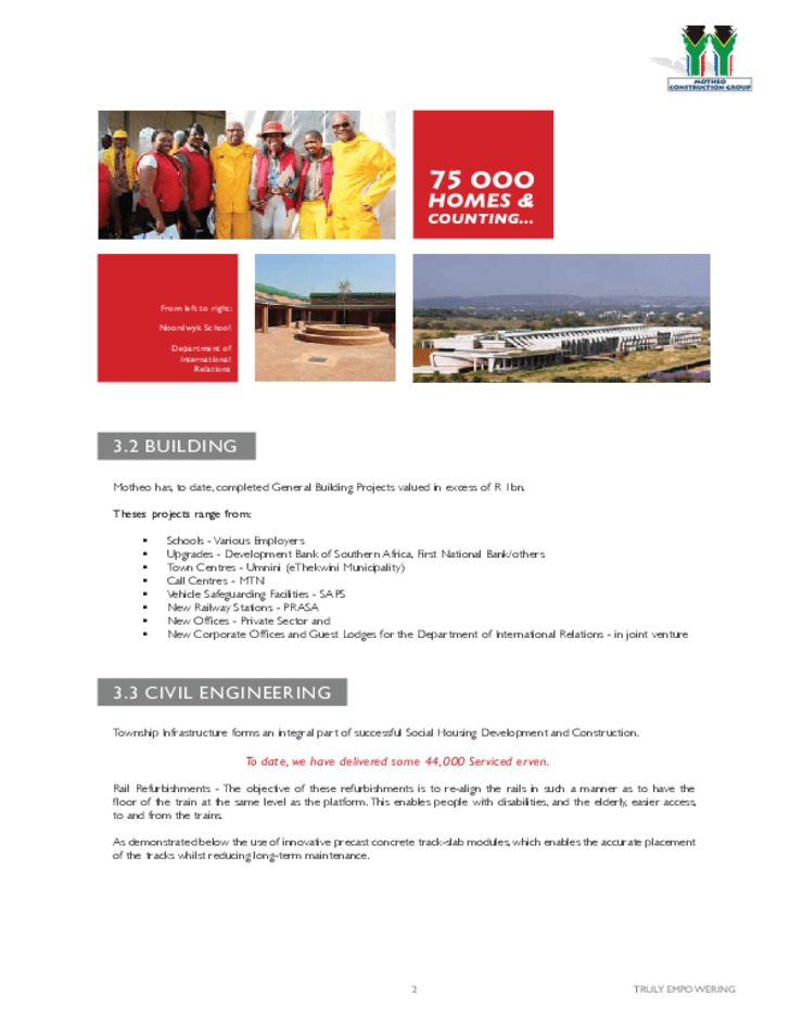 Construction Company Profile Sample Free Download