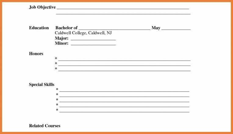 Download Fill In The Blank Resume | haadyaooverbayresort.com