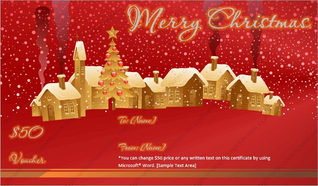 Christmas Gift Certificate Template 4 - Gift Template