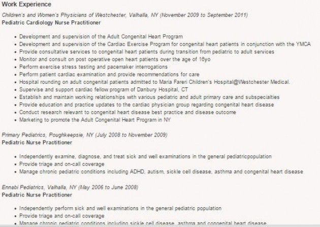 Pediatric Nurse Resume – Resume Examples
