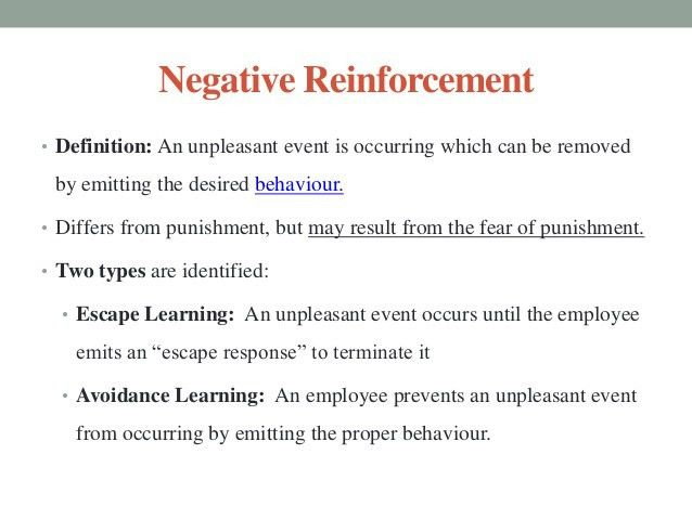 Learning and reinforcement