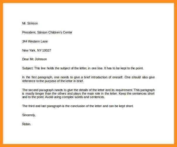 Example Business Letter. Business Reference Letter For Employment ...