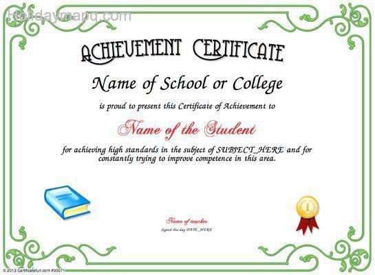 Certificate of achievement template - Map - Holiday - Travel ...