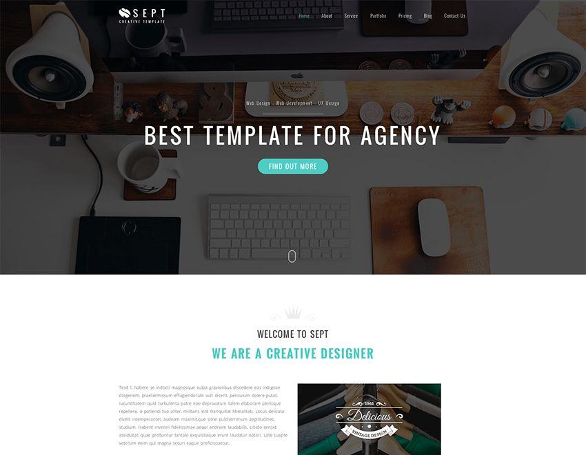 Sept is a free bootstrap theme. This theme is basically for ...