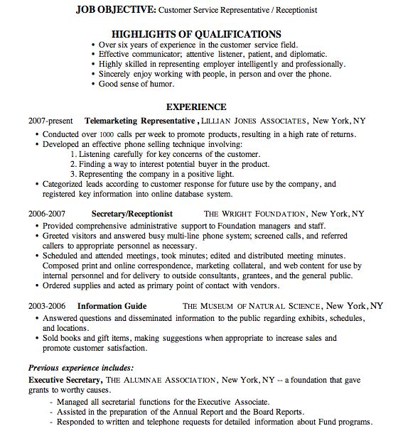 Pretty Inspiration Ideas Receptionist Resume Examples 4 Sample ...