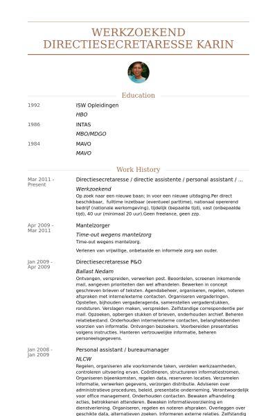Personal Assistant Resume samples - VisualCV resume samples database