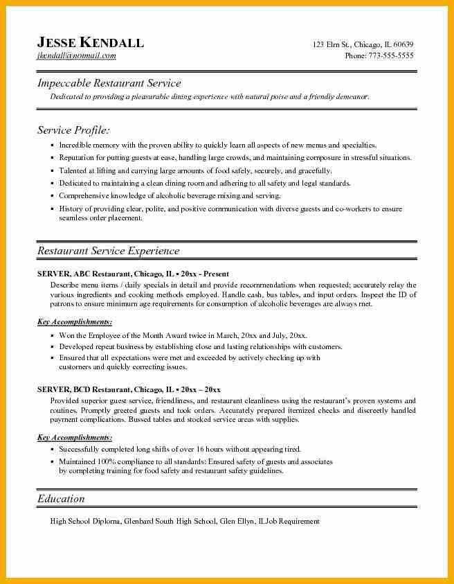 10+ resume for server | bursary cover letter