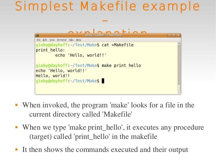 Linux intro 5 extra: makefiles