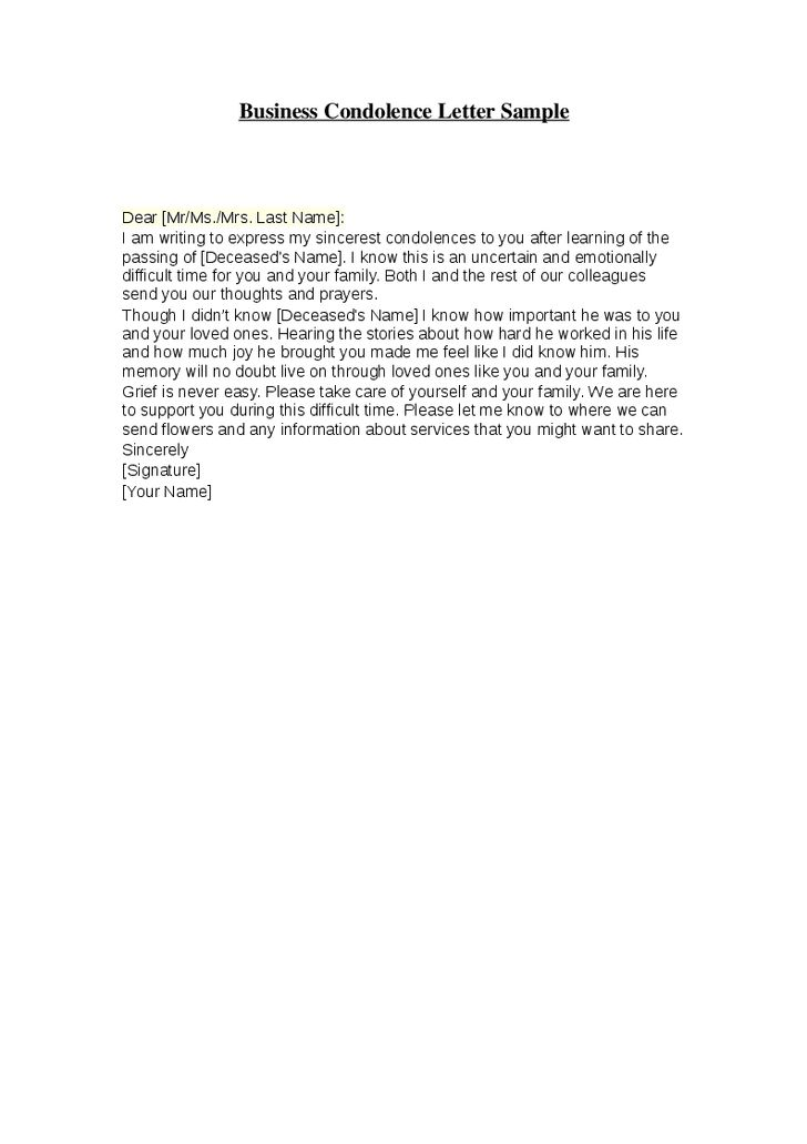Condolence Sample Note 25 Best Condolence Letter Ideas On – Formal Condolences Letter