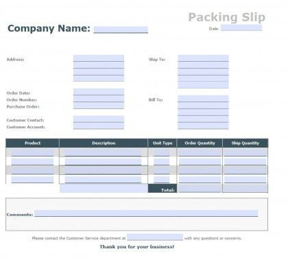 Download Blank Packing Slip Template | PDF | Word | Excel wikiDownload
