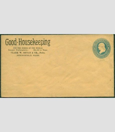 1870'S 1¢ envelope with GOOD HOUSEKEEPING MAGAZINE ADVERTISING ...