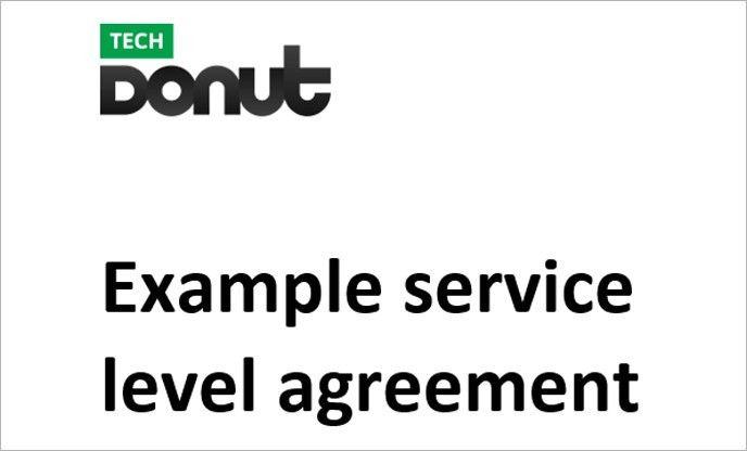 Sample service level agreement | Tech Donut