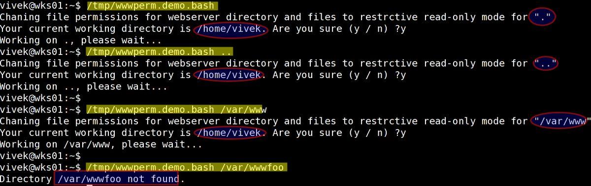Unix / Linux pwd shell scripting example – nixCraft