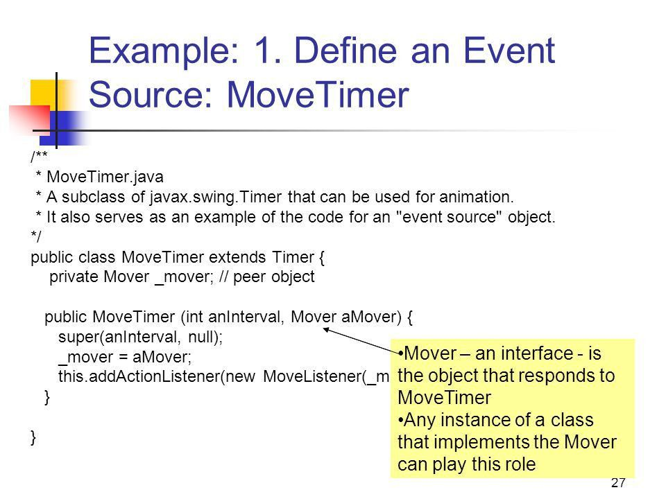 Java Interface, Abstract Class, and Event-Driven Animations - ppt ...