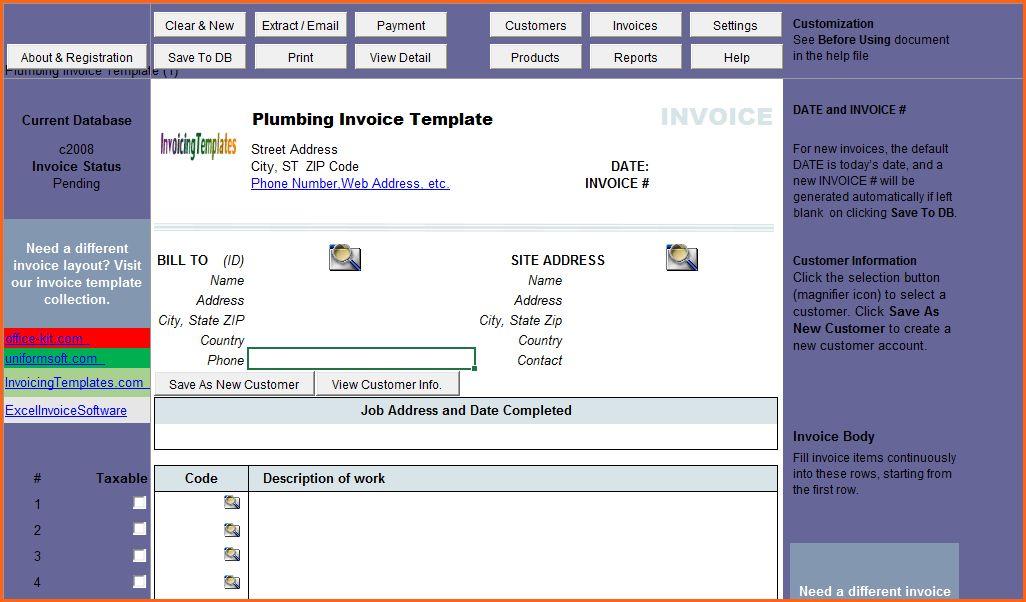 7 plumbing receipt template - Budget Template Letter